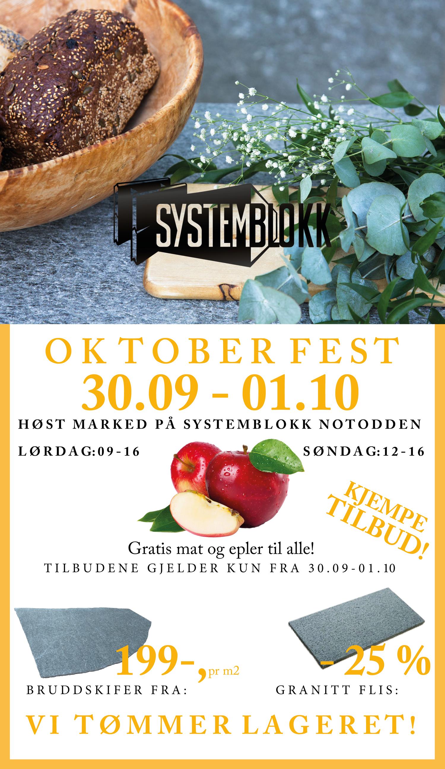Oktoberfest - tilbud - systemblokk